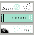Ink doodles brush strokes abstract design headers vector