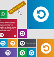Icon sign metro style buttons modern interface vector