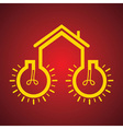 Bulb make a home vector