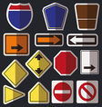 Blank road signs vector