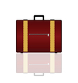 Travel bag in brown color vector
