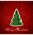Holiday background with christmas tree vector