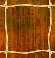 Ropes on the wood vector