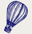 Hot air balloon vector