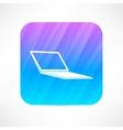 Computer notebook icon vector