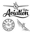 Retro aviation label vector