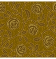 Abstract gold rose flowers seamless background vector
