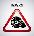 Dj icon design vector