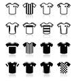 Football or soccer jerseys icons set vector