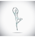 Dancer on the gray backdrop vector