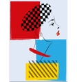 Pop art retro woman vector