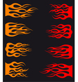 Set of orange and red tribal flames vector