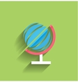 School globe flat design vector