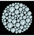Round decorative diamond composition vector