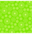 Bright green background with abstract flowers vector