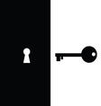 Key and keyhole vector
