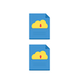 Cloud download and upload icon 11 vector