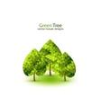 Green mosaic tree ecology design vector