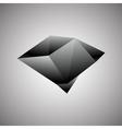 Abstract creative concept icon of black diamond vector