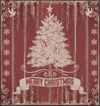 Rustic vintage christmas card vector