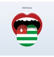 Abkhazia language abstract human tongue vector