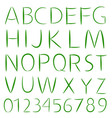 Simple font type vector