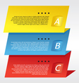 Colorful three step banners vector