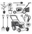 Set of vintage garden designed elements vector