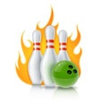 Skittles and ball for bowling vector