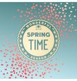 Spring time wonderful season vector