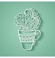 Decorative cup of tea vector