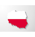 Poland map with shadow effect presentation vector