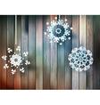 Christmas snowflakes on wood plus eps10 vector