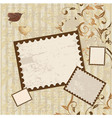 Valentines scrapbook elements vector