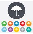 Umbrella sign icon rain protection symbol vector