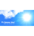 Sun and sky realistic banner vector