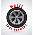 Wheel design vector