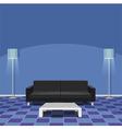 Modern living room - blue vector