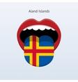 Aland islands language abstract human tongue vector