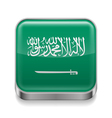 Metal icon of saudi arabia vector