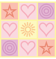 Valentines day congratulation card vector
