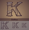 Halloween decorative alphabet - k letter vector