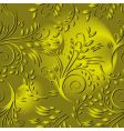 Seamless background with gold leaves vector