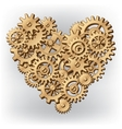 Mechanical heart symbol vector