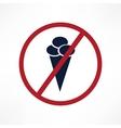 No ice cream symbol vector