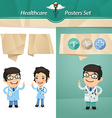 Doctors with speech bubbles vector