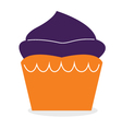 Beautiful cute double color muffin for halloween vector