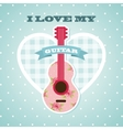 Love my guitar vector