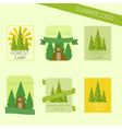 Set of travel and camping logo outdoor emblems vector