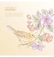 Cute watercolor bird vector